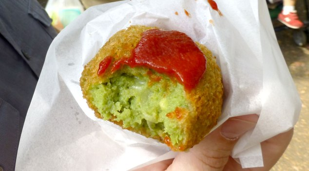 Deep-fried, cheese-filled avocado