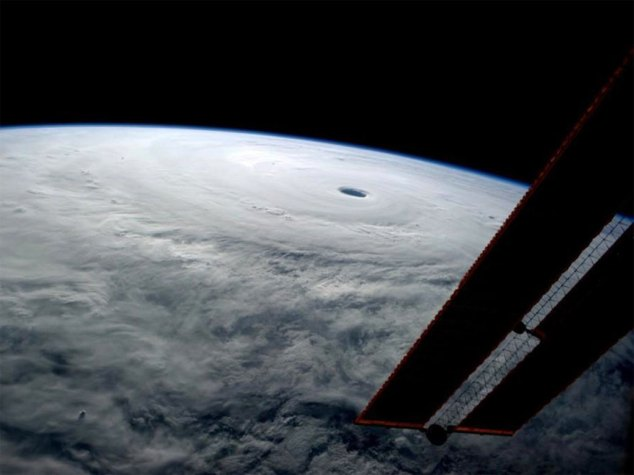 Typhoon Vongfong from ISS