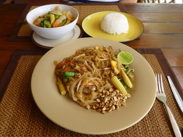 Authentic phat thai (noodles) and curry. Eating local food is one of our favorite things about traveling.