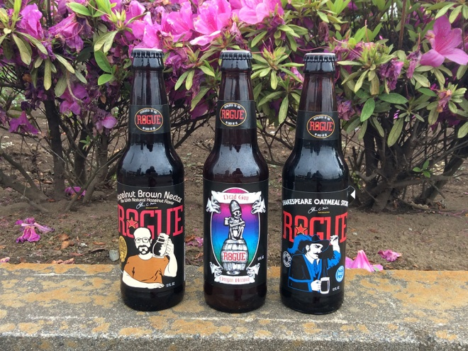 A taste of home... beers from Newport, Oregon's Rogue Ales & Spirits