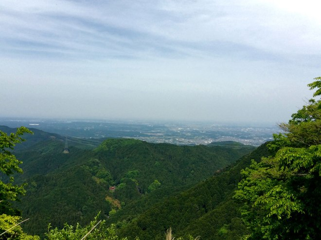 From the very top of the pass, we could look over the entirety of  Saitama Prefecture. On a clear day, Tokyo Skytree is visible, nearly 50 miles away.