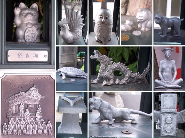 """100 of these statues, called kaiun annai ban (開運案内板) or """"Good Luck Guide Plates"""" are located around the area of Chichibu Shrine."""