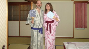 The complete ryokan experience includes yukata!