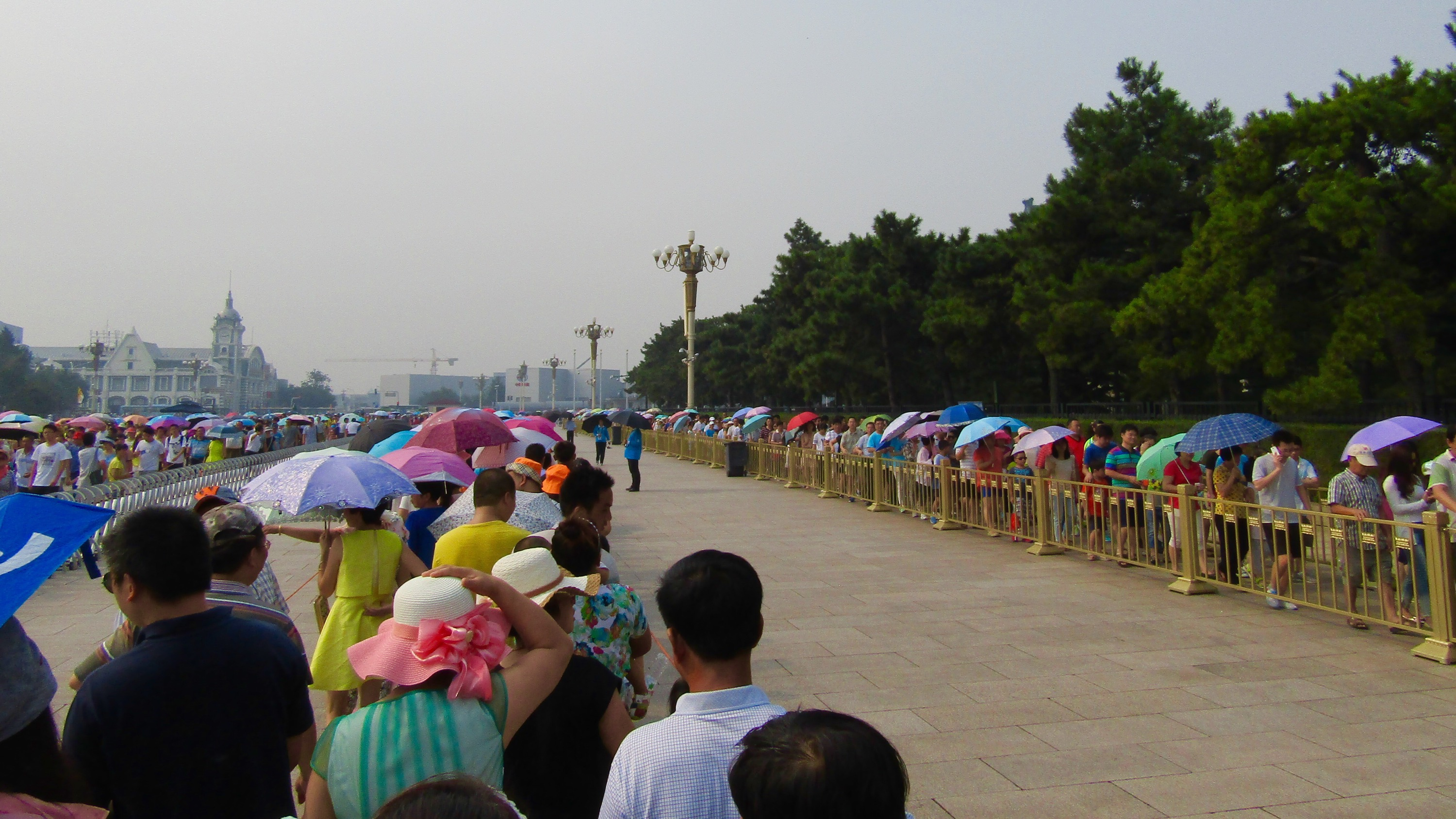 Another view of the line at Mao's mausoleum. Shortly after this picture was taken--and after 30 minutes in line--I was informed I couldn't bring my backpack or camera inside. Fortunately they let me check my bag at a nearby luggage check and re-enter the line.