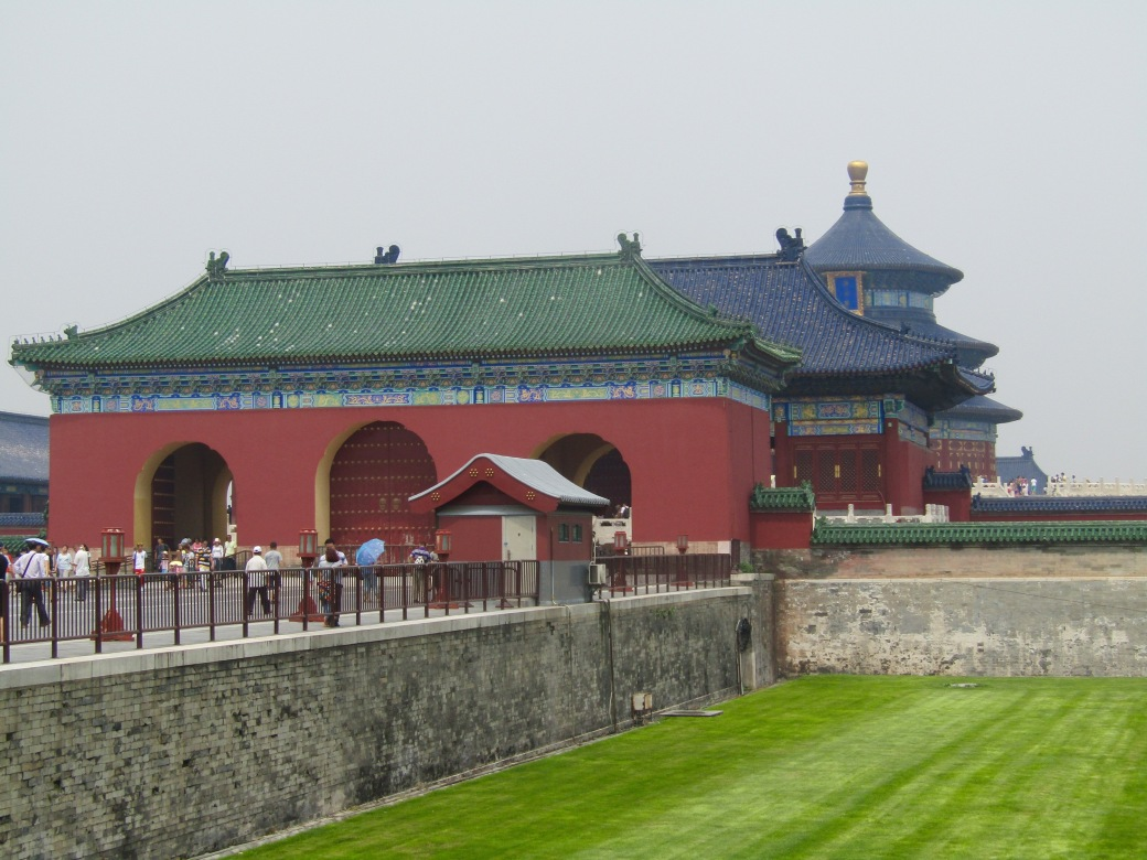 We walked around Beijing's Temple of Heaven park for about three hours. The tower in the back was used to pray for good harvest and is actually built using pillars made from Oregon fir trees.