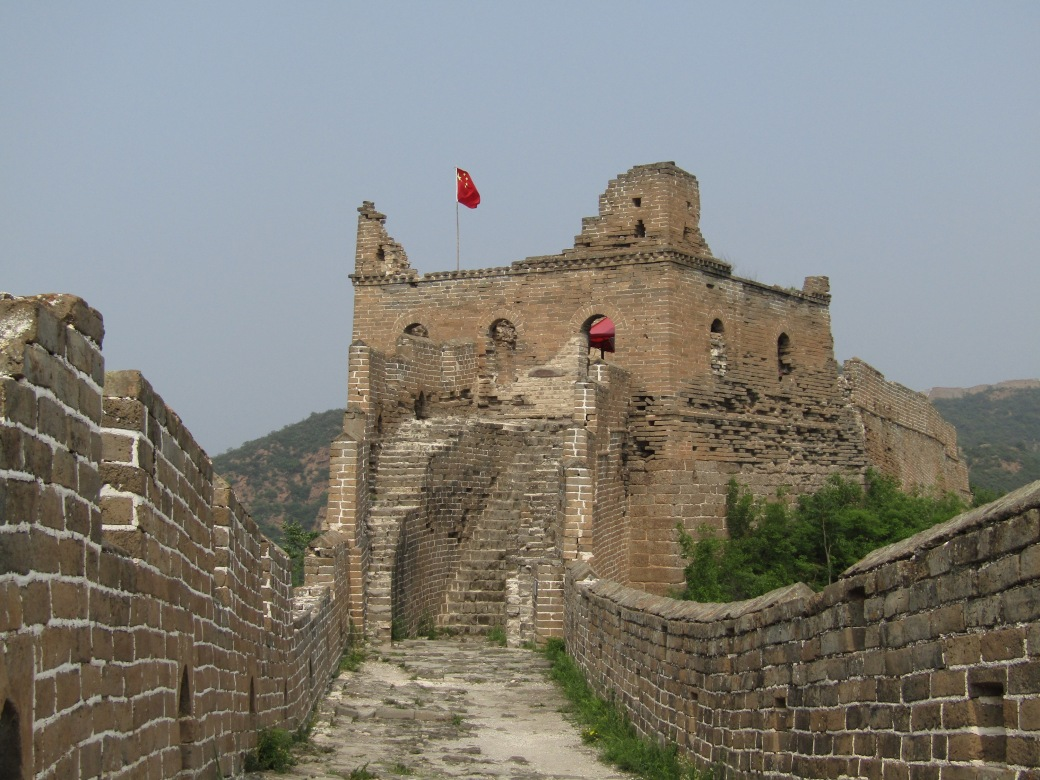 The first part of the second leg of the hike has been heavily restored over the past 30 years, making it more appealing to the bus tourists from Beijing. However, after the first few towers, the Wall turns more towards its