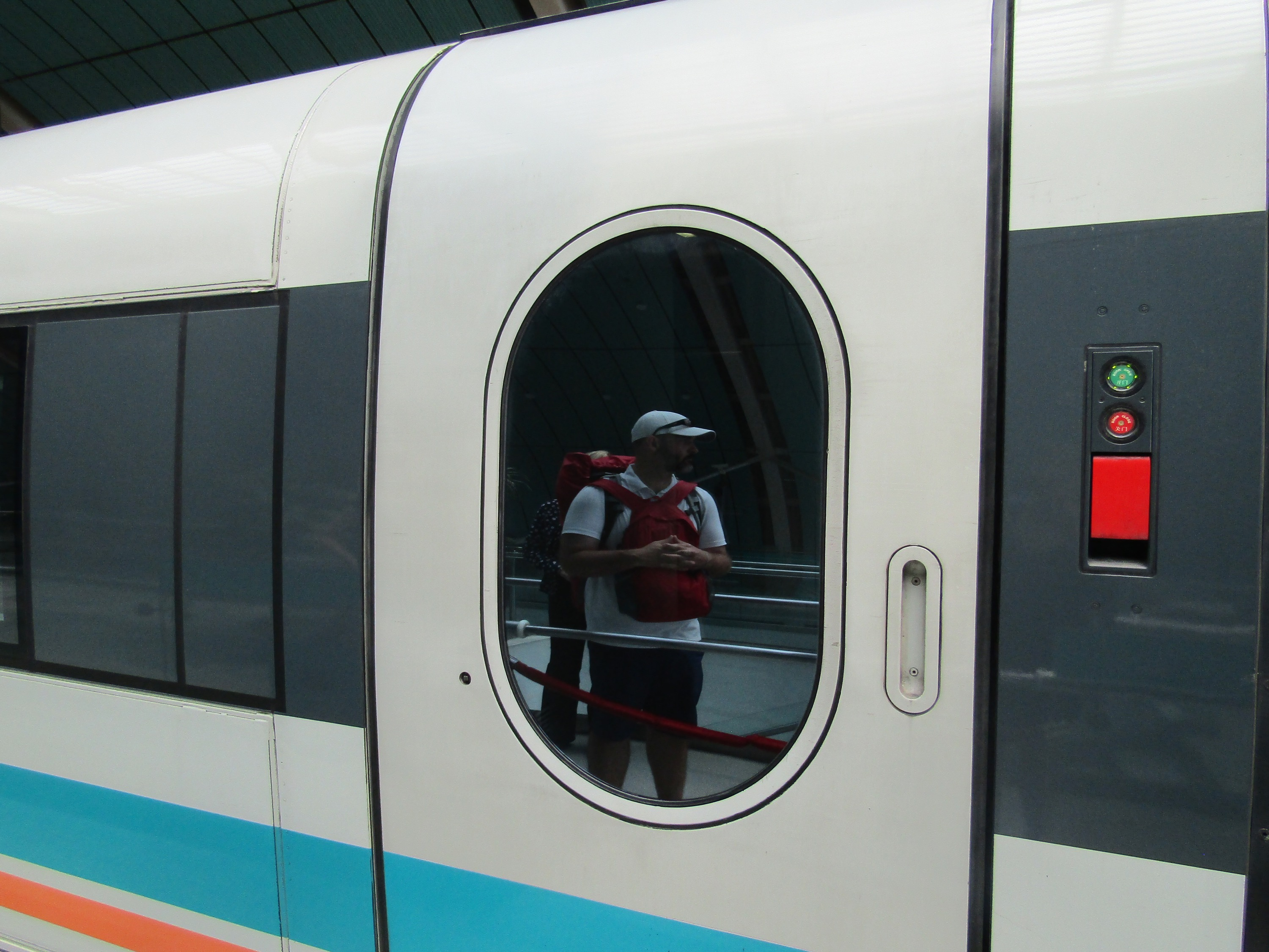 Although we had plenty of time to get to the airport for our flight leaving Shanghai, we opted for the super-fast maglev train purely for the experience. The line is one of only two maglev trains currently in commercial operation (Japan has the other).