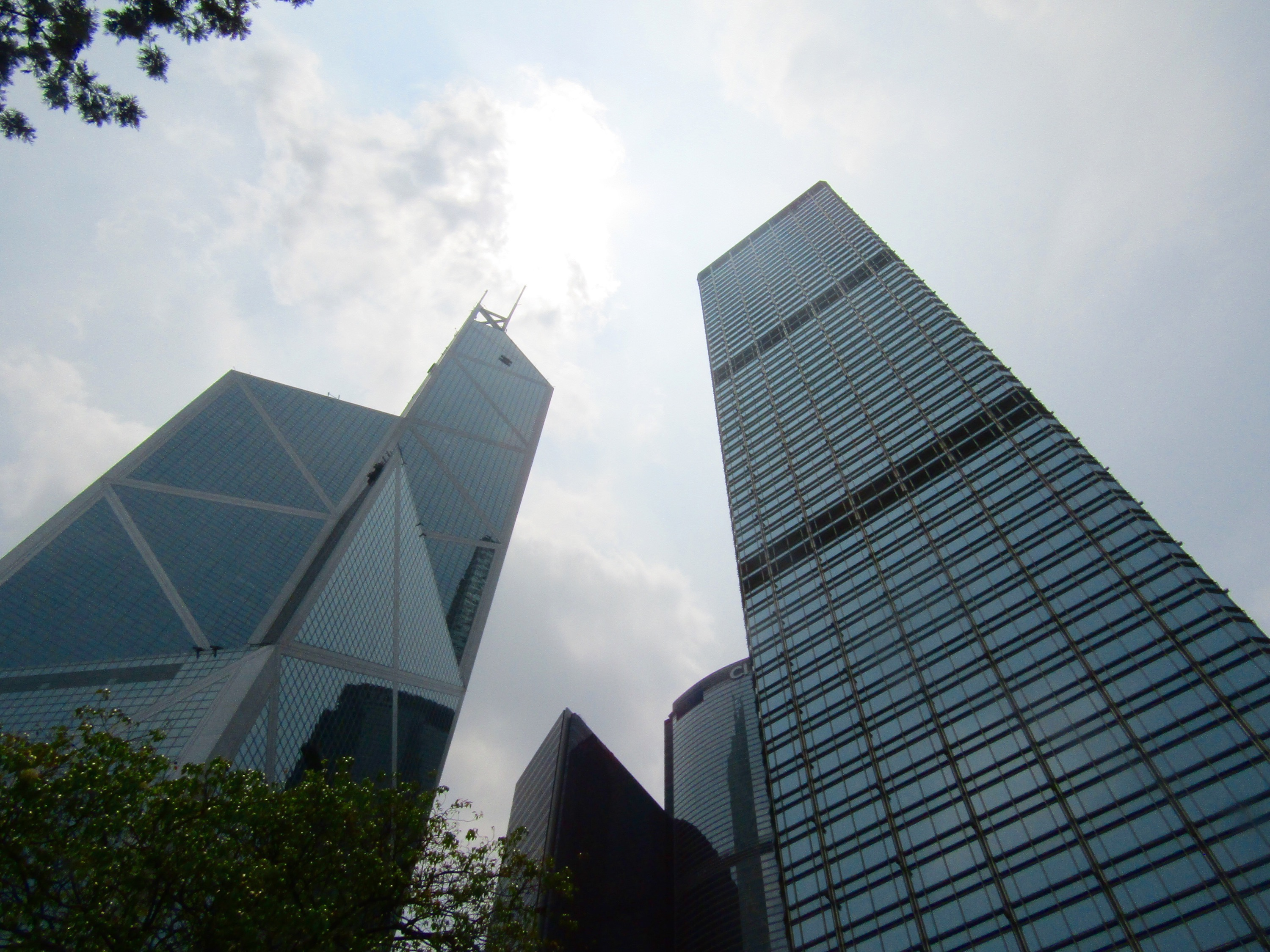The iconic Bank of China Tower (left) was designed by famous American architect I.M. Pei and was the first building outside of North America to top 1,000 feet. It also is a featured player in the Symphony of Lights show we saw on our first night in HK.