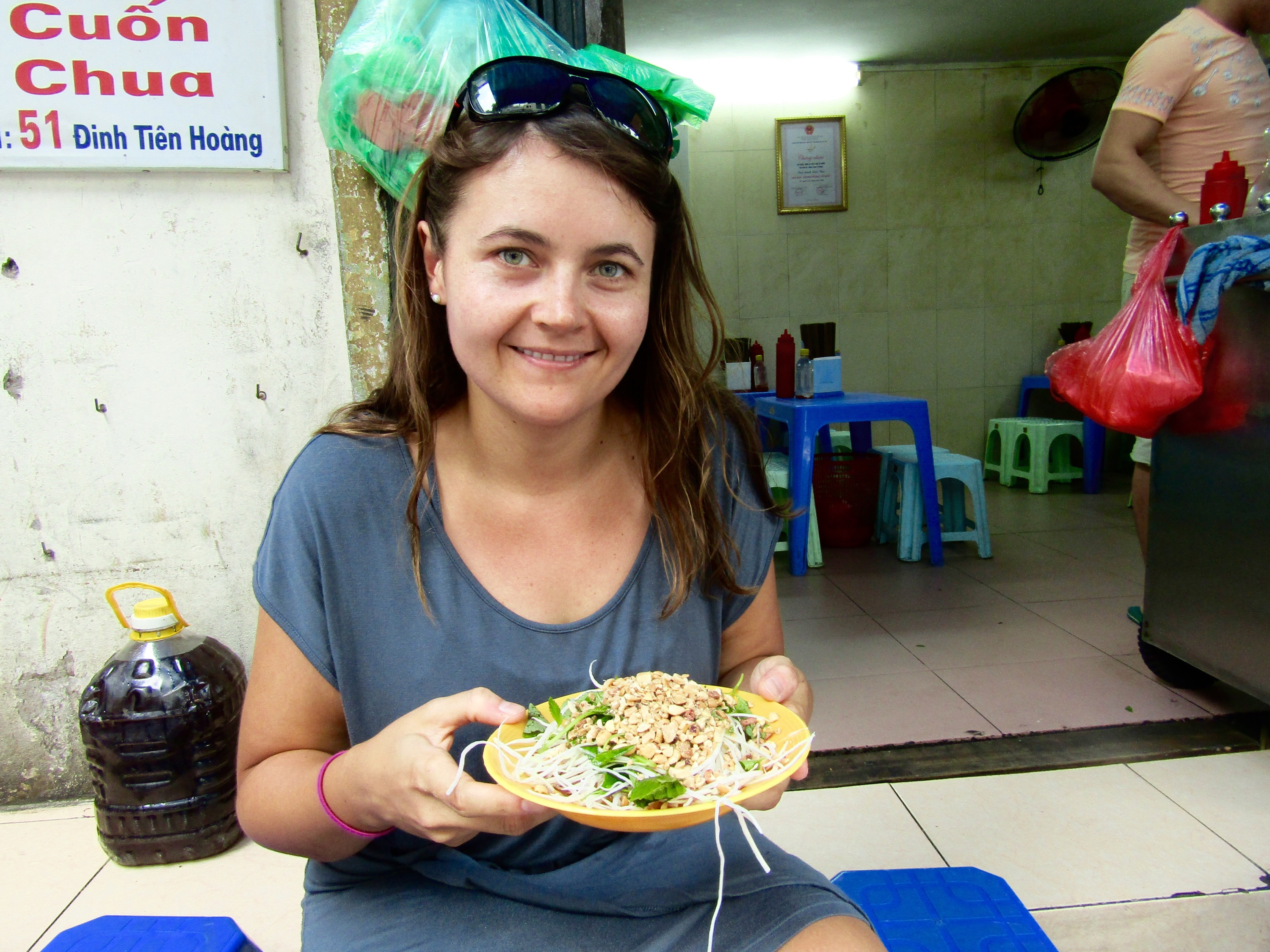 Hanoi's version of green papaya salad, a dish that's also popular in Thailand.