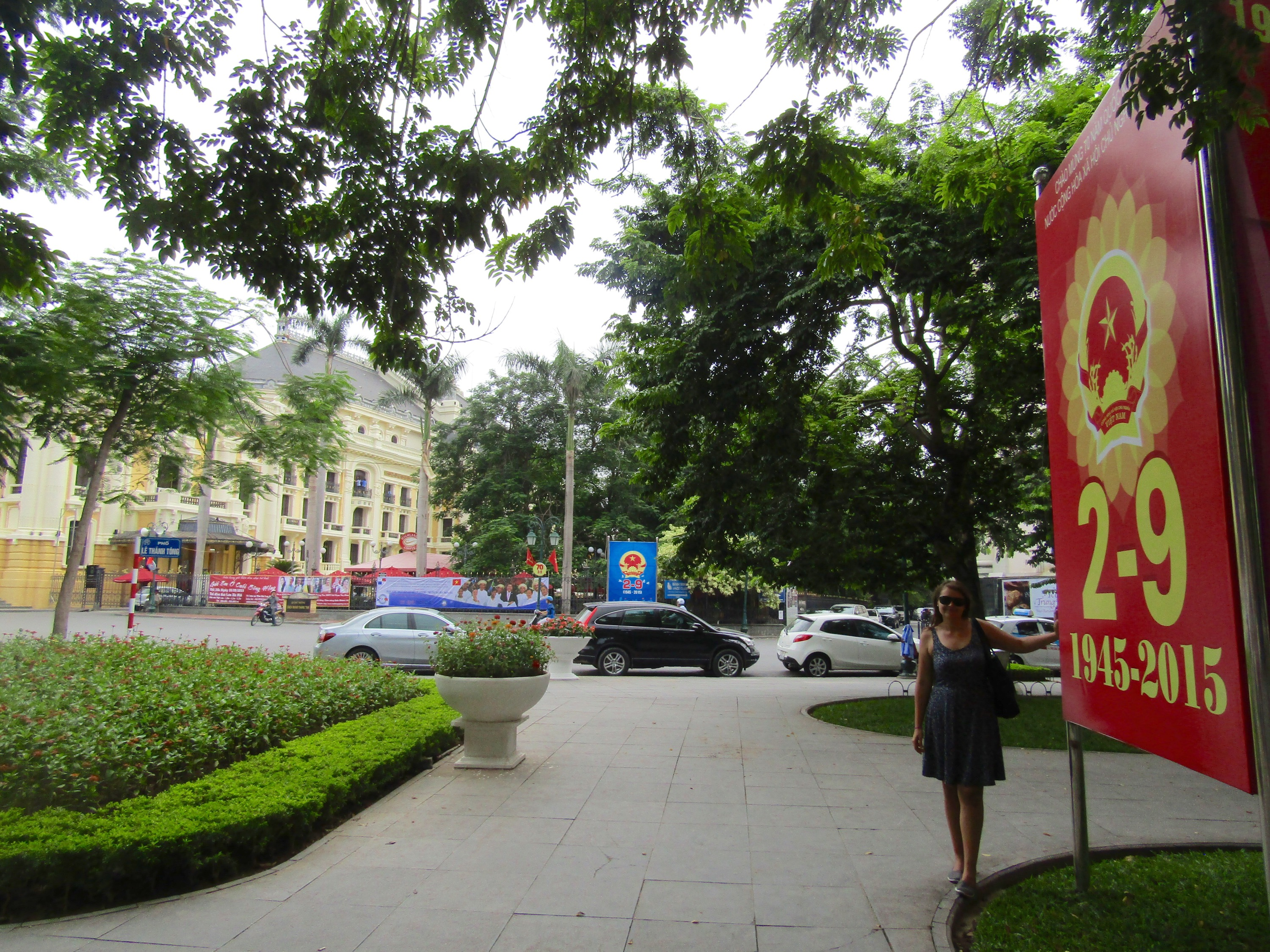 Hanoi is teeming with posters and in-construction decorations in preparation for the country's 70th anniversary of independence on September 2. Should be quite a party!