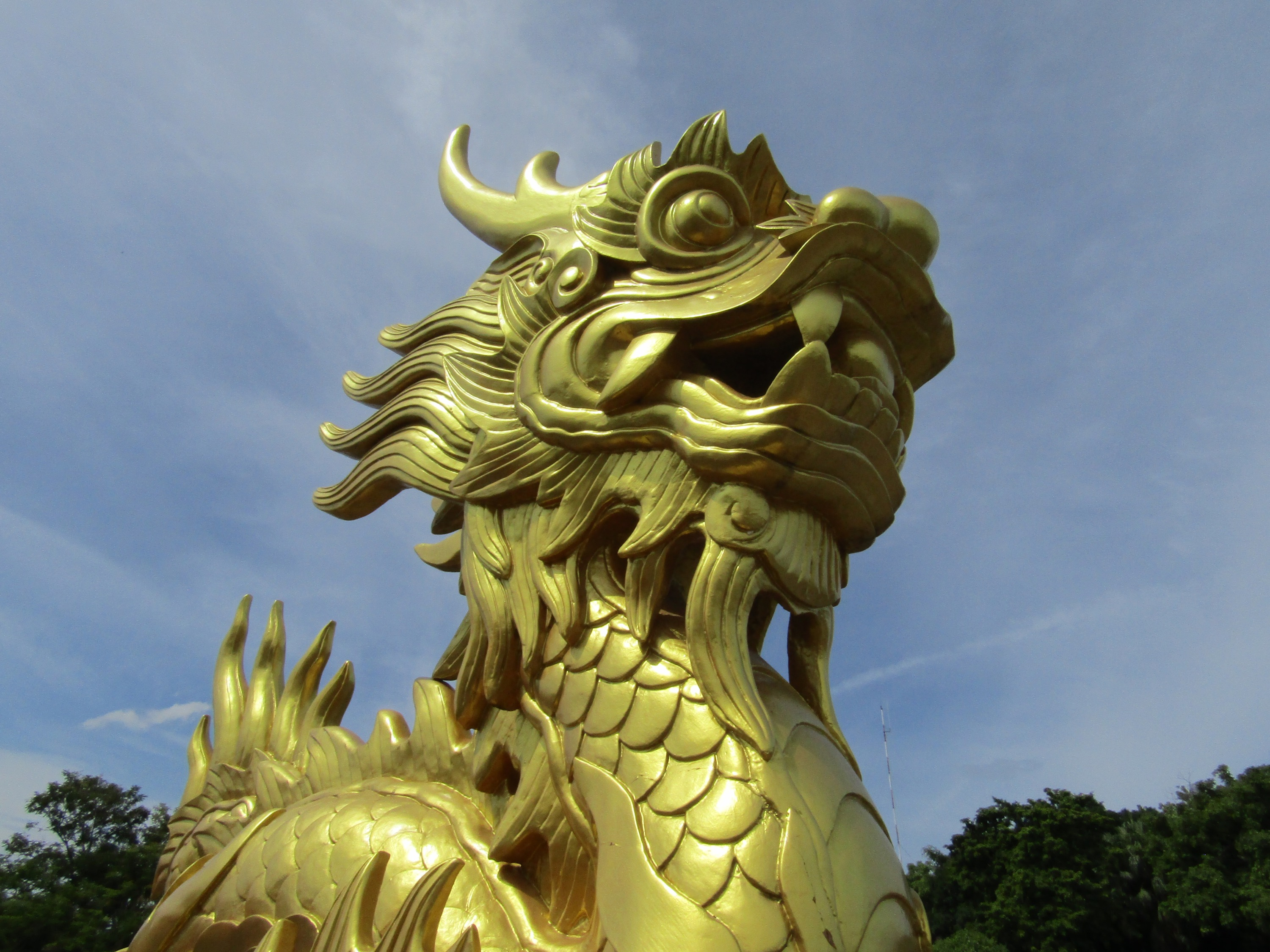 A golden dragon statue inside the Purple Forbidden City section of the Imperial Palace. Similar to the Forbidden City in Beijing, the area was restricted to only the imperial family.