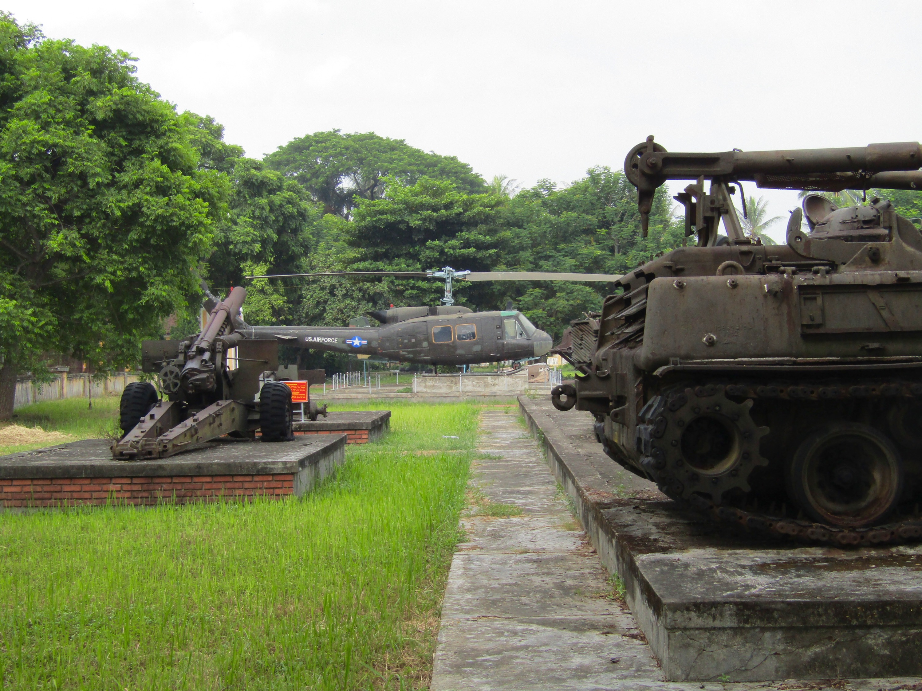 Hearing about the other side of the Vietnam War has been one of the more fascinating parts of this experience. Outside the Imperial Palace, a museum displays captured U.S. artillery and aircraft like trophies, listing the dates and locations when they were taken by the Communist-led People's Army.