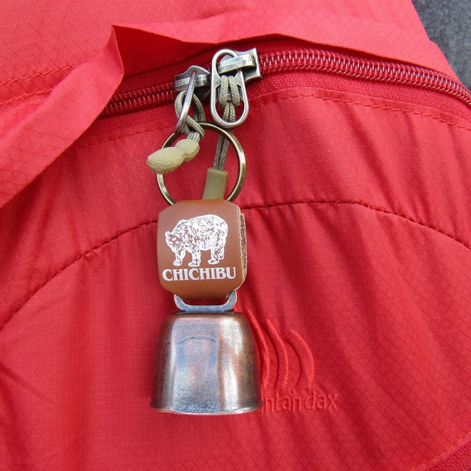 The tree-covered hills of the Okuchichibu Mountains are home to a decent-sized population of Asiatic black bears. Most hikers wear a bell like this one to keep from sneaking up on a bear in the woods.