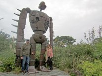 We found the robot from Castle in the Sky atop the Studio Ghibli Museum's roof
