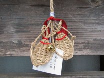 Even the charms (omamori) at Neno-gongen Temple are small straw sandals