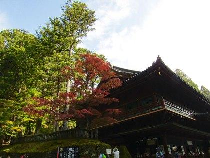 Outside the gates of Tōshō-gū Shrine