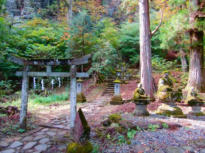 Kitano Shrine was built in 1661 to enshrine a Heian Era scholar named Sugawara Michizane, now recognized as the God of Study. A large rock nearby called the Tegake Stone is believed to contain powers to improve scholarship and penmanship.
