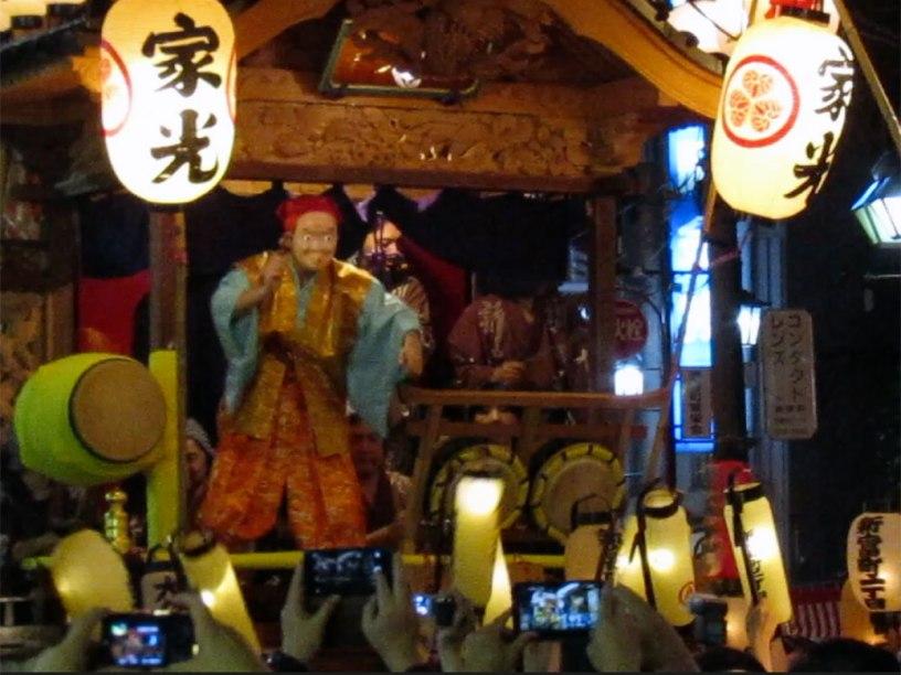One of the floats at Kawagoe Festival