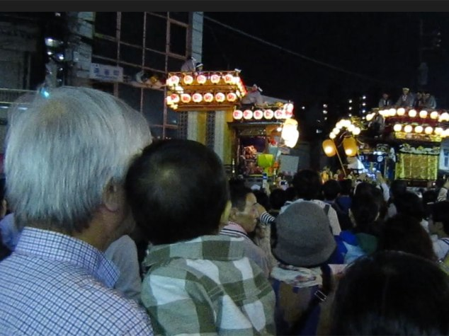 Otto-san and KenKen watching the parade. Three generations of two different families hosted me for this year's Kawagoe Festival.
