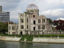 View of the Atomic Bomb Dome from the opposite side of the Ota River