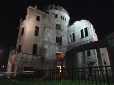The Atomic Bomb Dome at night
