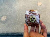 The original momiji-manju, a soft cake filled with sweet bean.