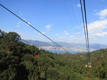 The Miyajima Ropeway carries visitors to the top of Mt. Misen