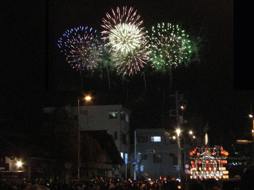 Fireworks and floats at the Chichibu Night Festival in Chichibu, Saitama
