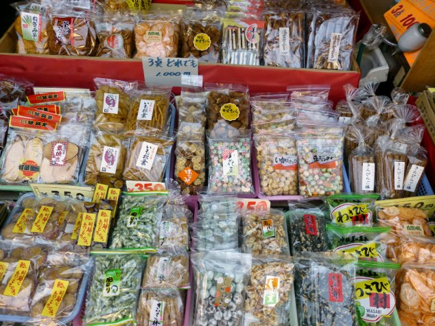 Kashiya Yokochō (Confectioner's Row) features local snacks, candy and more