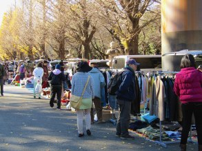 Clothing and more at the Yasukuni Shrine Flea Market