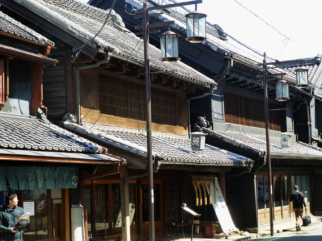 Kurazukuri Street features well-preserved warehouses from the 18th and 19th centuries