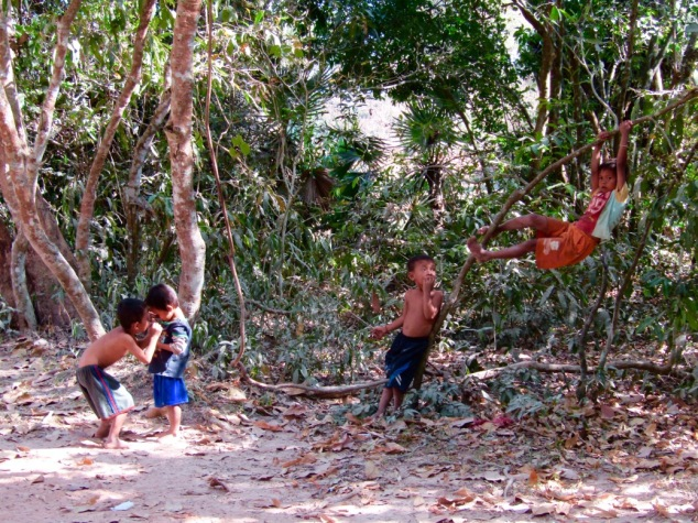 The kids of Ta Prohm employees have the world's most awesome playground!