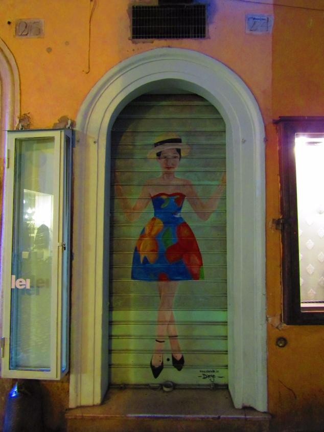 Closing time in a shop near the Campo de' Fiori market.