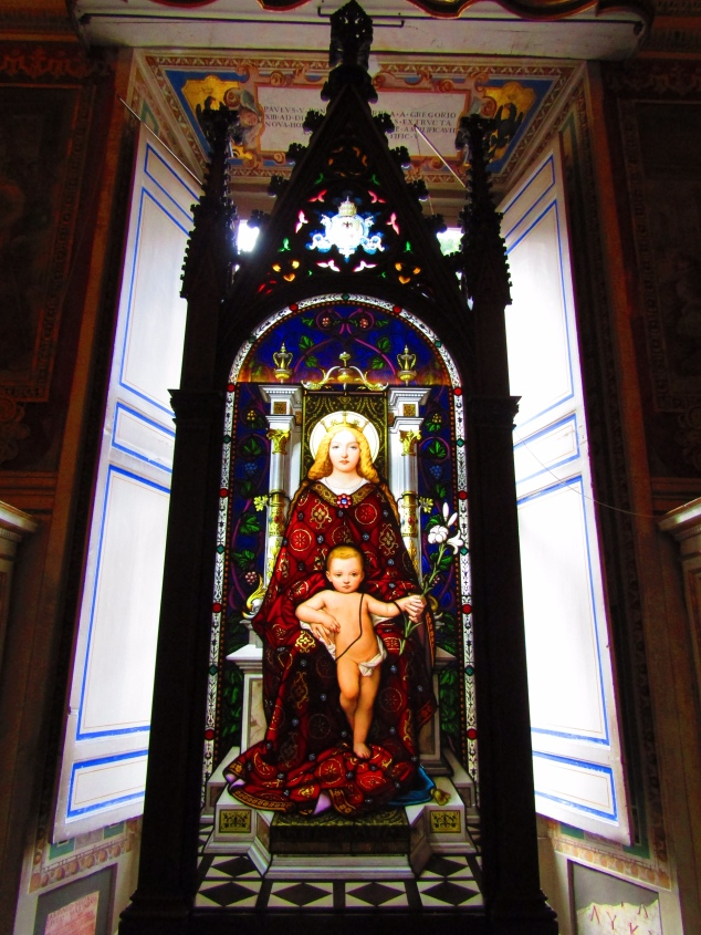 A stained glass piece in the Vatican Museum.
