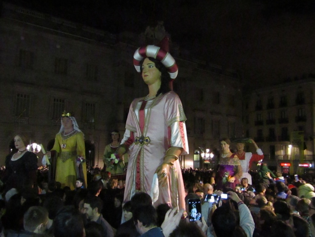 The Festival of Saint Eulalia in Barcelona, Spain.
