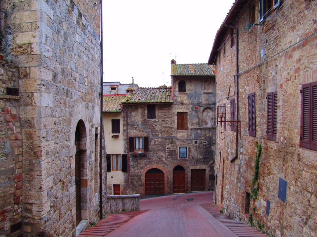 The streets of San Gimignano.