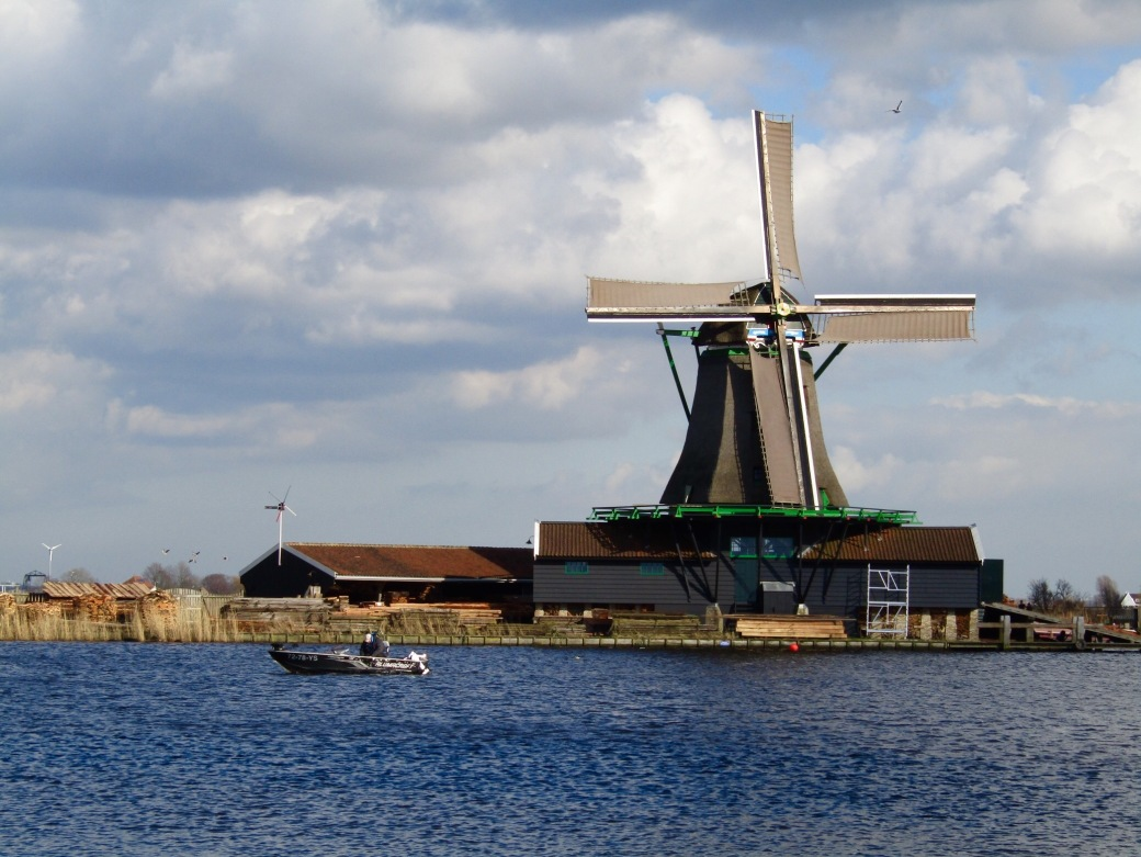 The Young Sheep, a sawmill, as seen from the opposite side of the Zaan River.