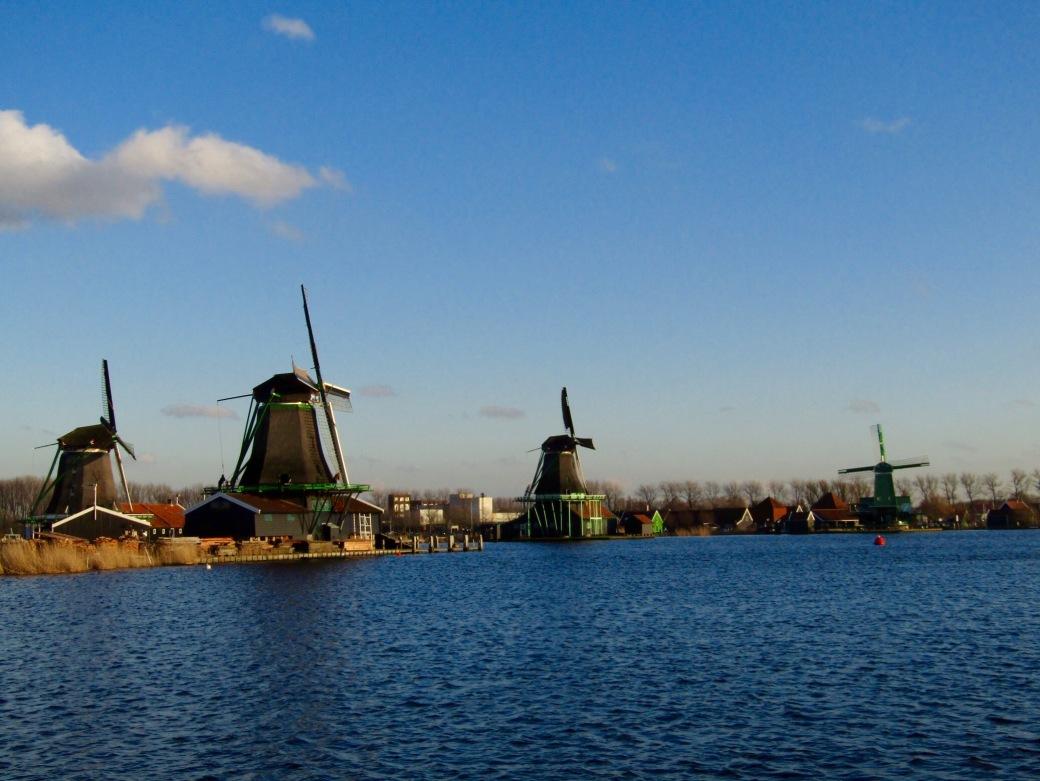 Zaanse Schans windmills.