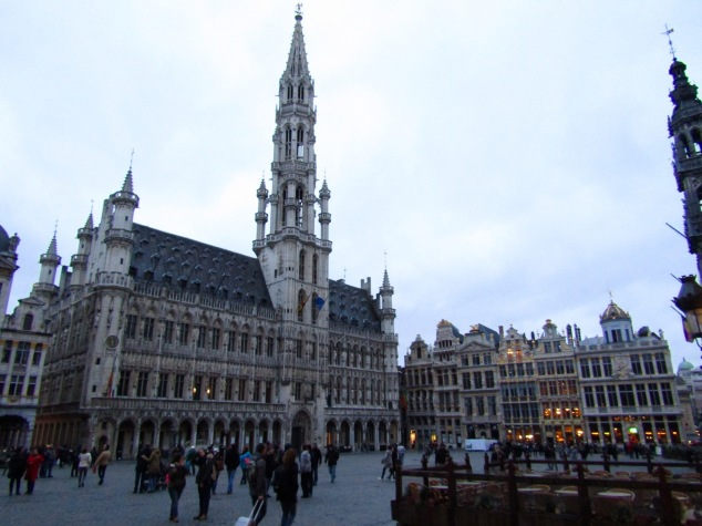 The town hall building at Grand Place.