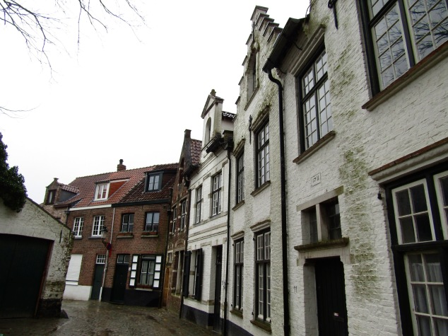 A row of houses built in the early 1700s have been restored to pristine condition.