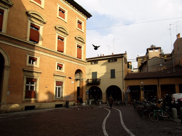 The late afternoon sun finally broke through after two days of fog during our time in Bologna.