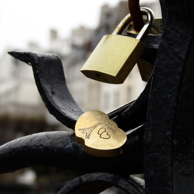 It's hard to find a gate in Paris that isn't full of locks placed by lovers.