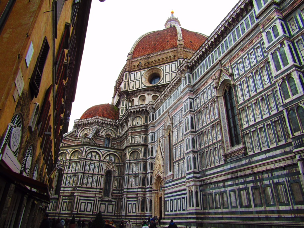 The Cathedral of Santa Maria del Fiore is one of Florence's most popular landmarks. Built in the 1400s, it's one of Italy's largest churches and certainly doesn't fit in a single photo frame!