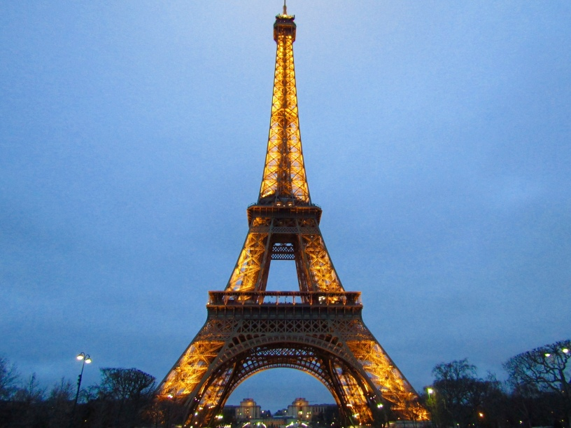 The Eiffle Tower in Paris is one of the world's most famous landmarks.