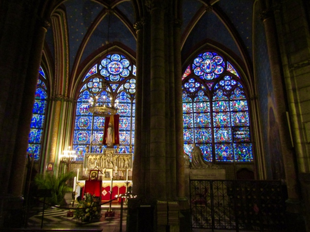 A chapel behind Notre-Dame's main alter.