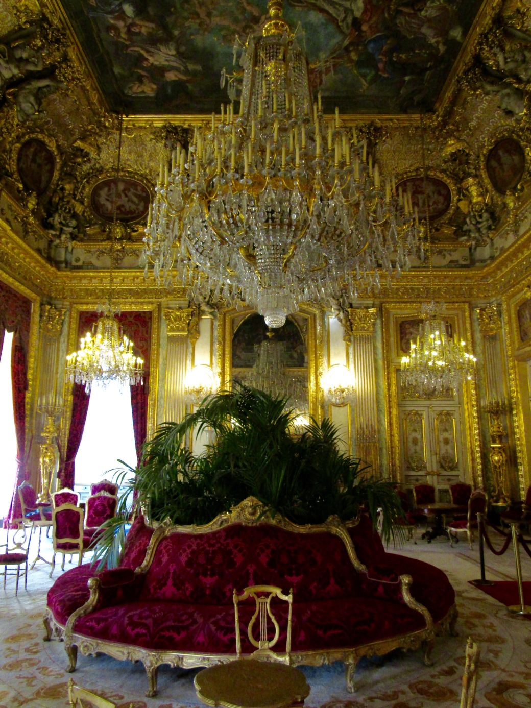 A re-creation of several rooms of Napoleon's apartment has been built in great detail at the Louvre. The parlor was among the most ornate rooms on display.