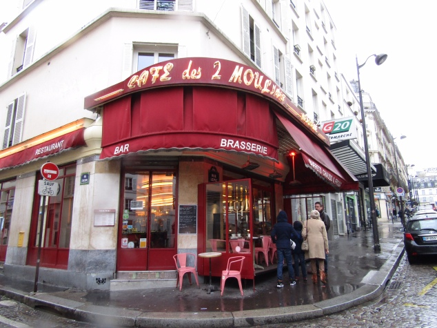 Amelie's workplace, Cafe des 2 Moulins, on Montmartre's Rue Lepic.