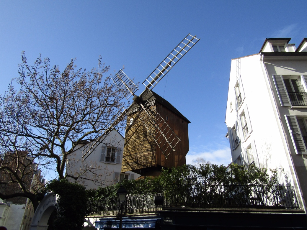 Moulin de la Galette, built in the 1600s, is Paris's last functioning mill from the era.