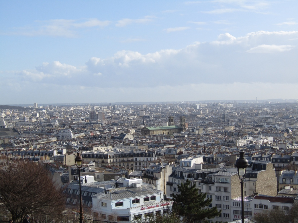 A view of Paris from the base of Sacré-Cœur.