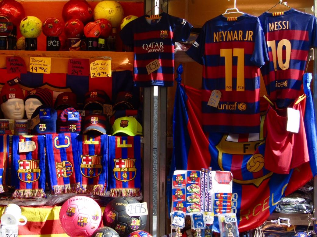 Barcelona loves its futbol team! Barça, Barça, Baaarça!